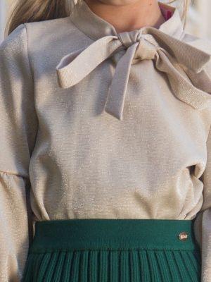 חולצת פלורי מנצנצת | זהב