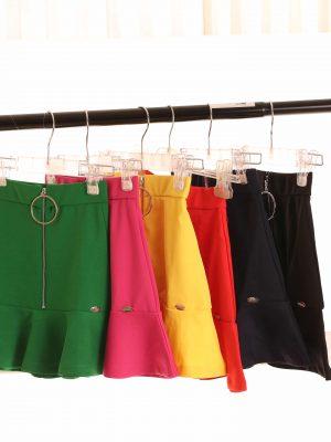 חצאית רוכסן קדמי +רינג