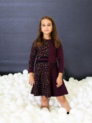 שמלה מנומרת חצי חצי
