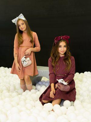 שמלת זמש  | אפרסק