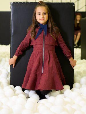 שמלת פפיטה | בורדו