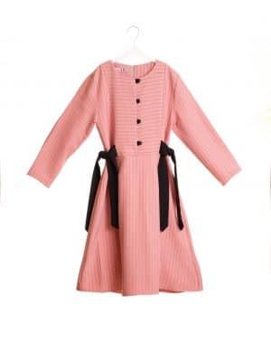 שמלת פסים קשירות