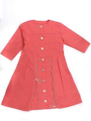 שמלת רוכסנים- כתום קורל