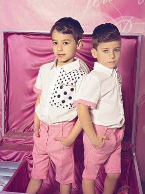חולצת בנים נקודות