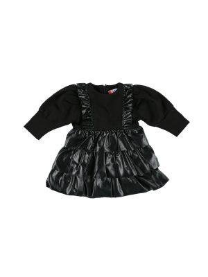 שמלת טיילור עור  בייבי| שחור