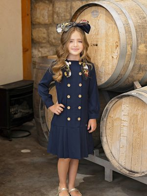 שמלה אמילי עם צעיף שרשראות