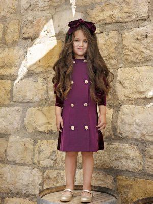 שמלה איזבלה קומות קטיפה סגול