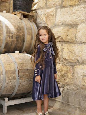 שמלה מרטינה פפיון קטיפה | סגול
