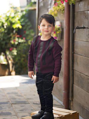 מכנס ג'ק ארוך קטיפה | שחור