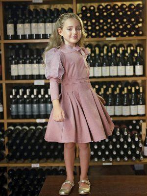 שמלת סופיה מנצנצת | אפרסק