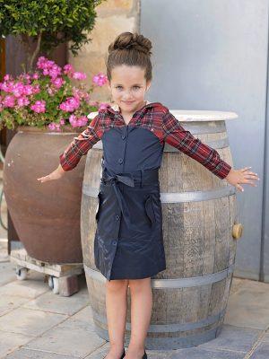 שמלת ליאם קפוצ'ון סקוטי | כחול
