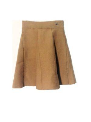 חצאית סריג פעמונים | בז'