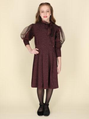 שמלת סופיה מנצנצת | בורדו