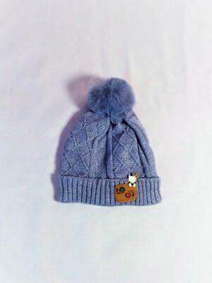 כובע תינוק אליס סרוג | אפור