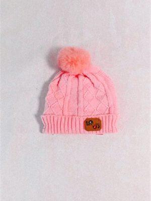 כובע תינוק אליס סרוג | ורוד בייבי
