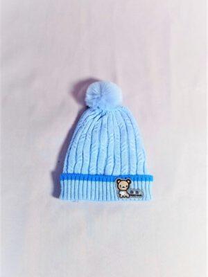 כובע תינוק אליס סרוג | תכלת