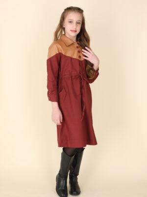 שמלת פולי גסקה עור | בורדו