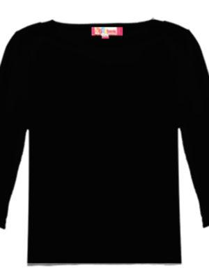 חולצת בסיס יוקרתית | 3/4 | שחור, לבן, שמנת