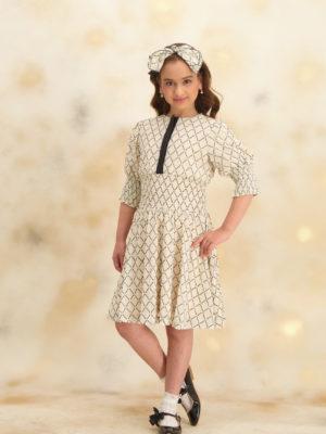 שמלת ליליה משובץ נקודות |כסף