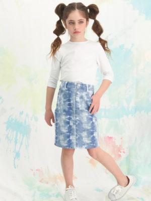 חצאית לוטם כחול טאי דאי |פסטל