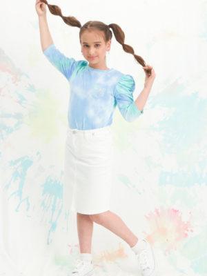 חצאית לוטם גינס |לבן