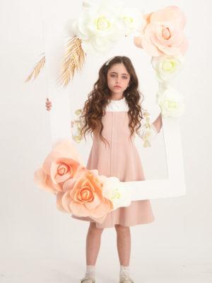 שמלת פטוניה פפיונים | אפרסק