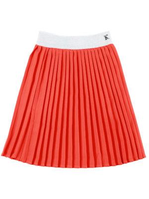 חצאית איריס פליסה אדום