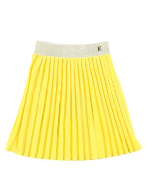 חצאית איריס פליסה| צהוב