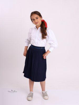 חצאית תלבושת אוכמנית כחול נייבי