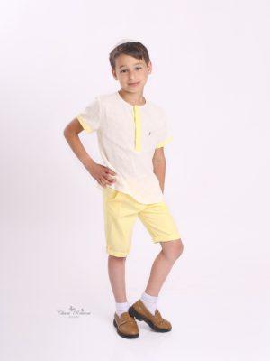 חולצת ליליה בנים| צהוב