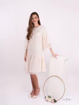 שמלת כלנית קרם