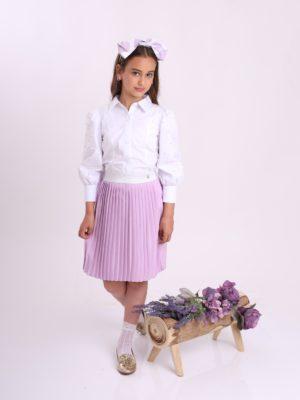חצאית פליסה אירוס סגול
