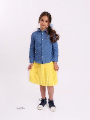 חצאית איריס פליסה  צהוב