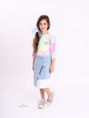 חצאית ג'ינס רותם  כחול בהיר