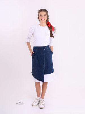 חצאית ג'ינס רותם  כחול