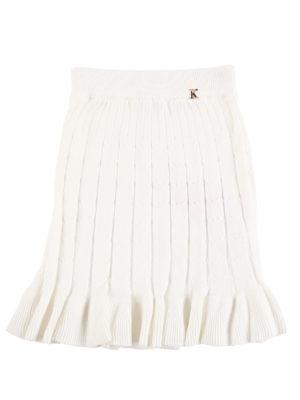 חצאית סריג ן לבן