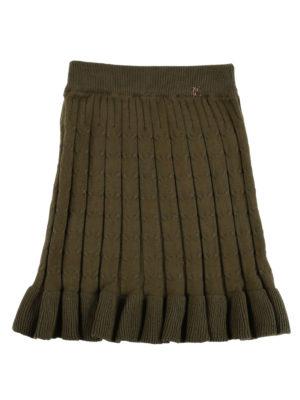 חצאית סריג קנדל ן ירוק