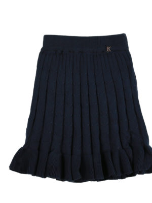 חצאית סריג קנדל ן כחול