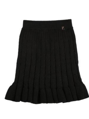 חצאית סריג ן שחור