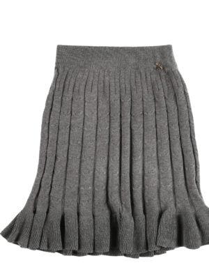 חצאית סריג קנדל ן אפור