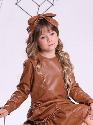 שמלת עור סול קומות ן חום