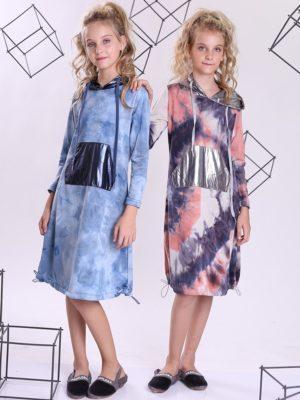 שמלת טאי דאי ן אפרסק