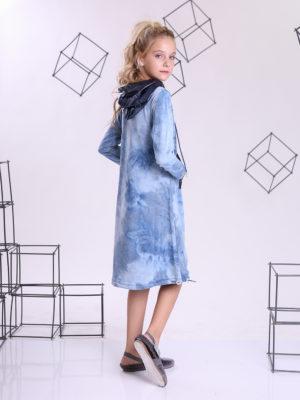 שמלת טאי דאי ן כחול