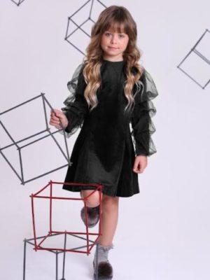 שמלת קים קטיפה ן שחור